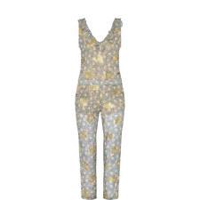 Western Flower Print Jumpsuit