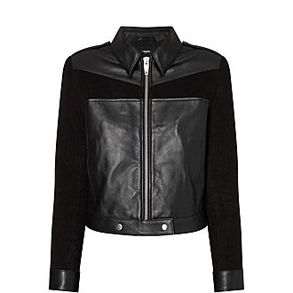 Cropped Leather Jacket