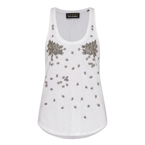 Sequin Encrusted Tank Top, ${color}