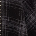 Studded Check Poncho, ${color}