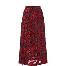 Devoré Velvet Skirt
