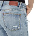 Cropped Distressed Jeans, ${color}