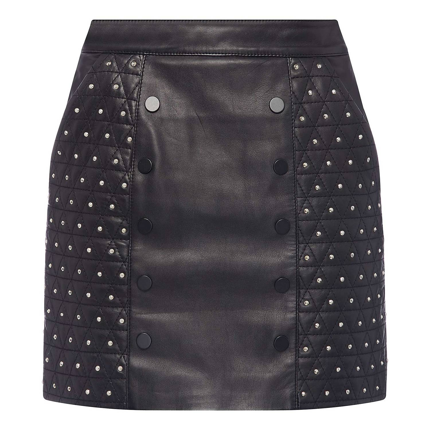 ff0444bc4 ... Padded Leather Skirt , ${color}