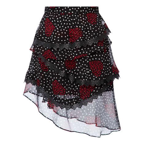 Heart Print Mini Skirt, ${color}