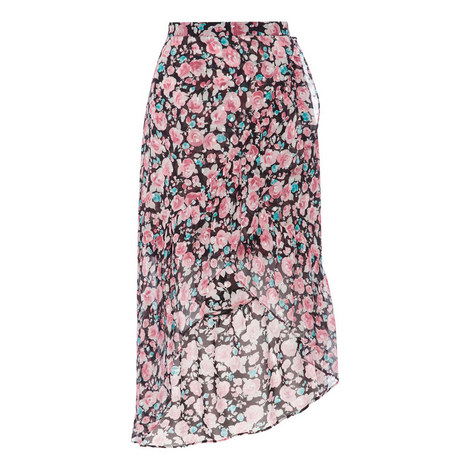 Floral Frill Midi Skirt, ${color}