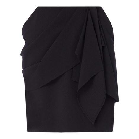 Draped Mini Skirt, ${color}