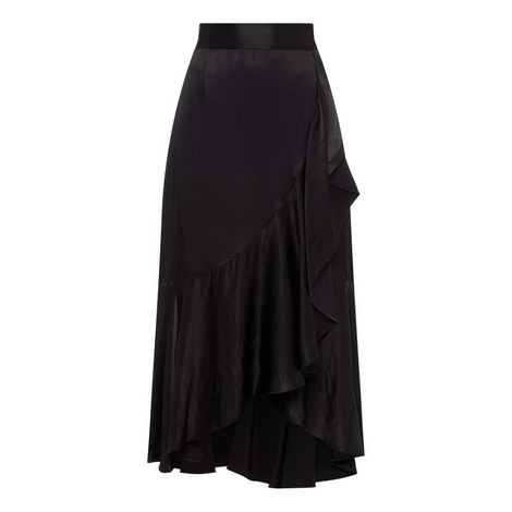 Asymmetrical Ruffled Skirt, ${color}
