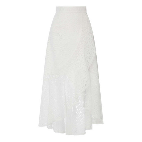 Embroidered Asymmetrical Skirt, ${color}