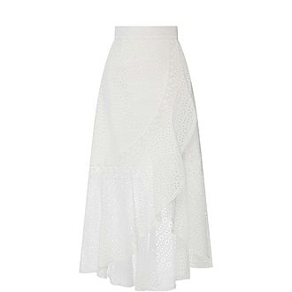 Embroidered Asymmetrical Skirt