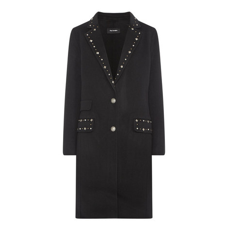 Studded Wool Coat, ${color}