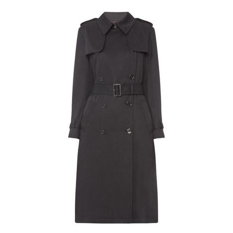 Long flowing beige trench coat, ${color}