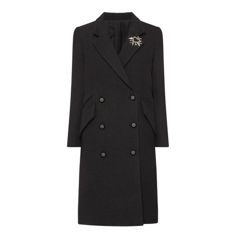 Double-Breasted Brooch Coat, ${color}