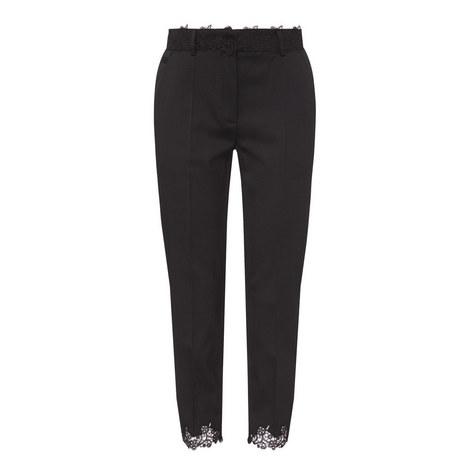 Lace Detail Suit Trousers, ${color}
