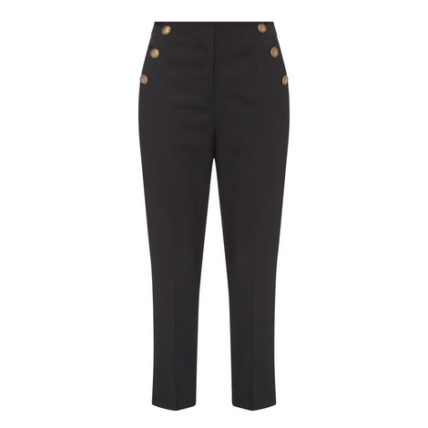 Button Detail Tailored Trousers, ${color}