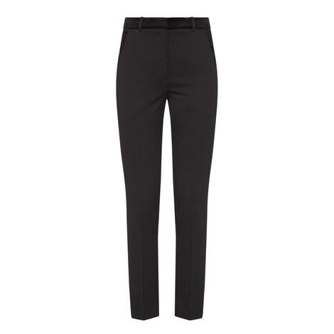 Velvet Detail Trousers, ${color}