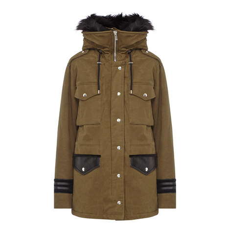 Hooded Twill Parka, ${color}