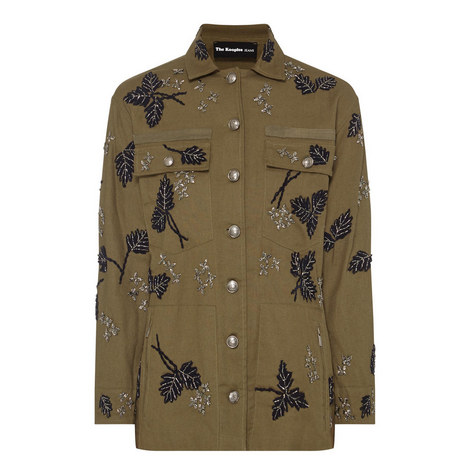 Embroidered Leaves Jacket, ${color}