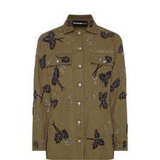 Embroidered Leaves Jacket