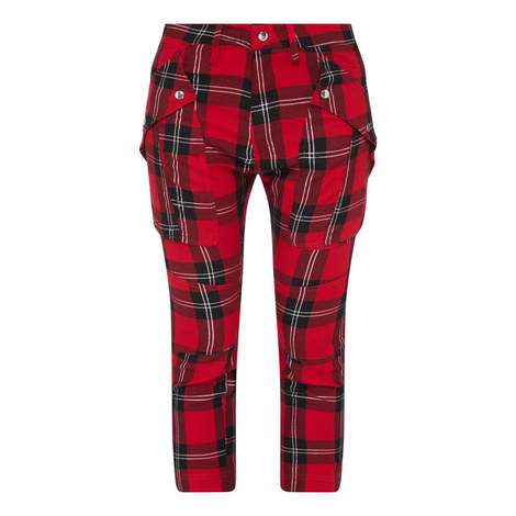 Glitter Functional Tartan Trousers, ${color}