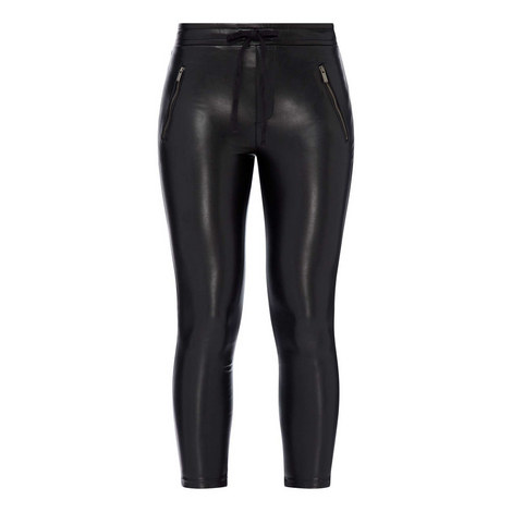 Faux Leather Trousers, ${color}