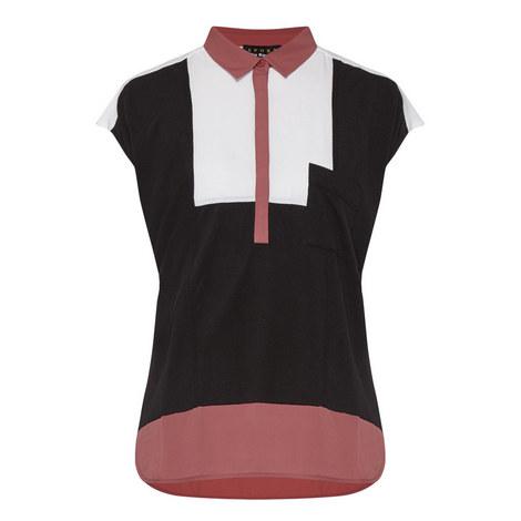 Bi-Material Polo Shirt, ${color}