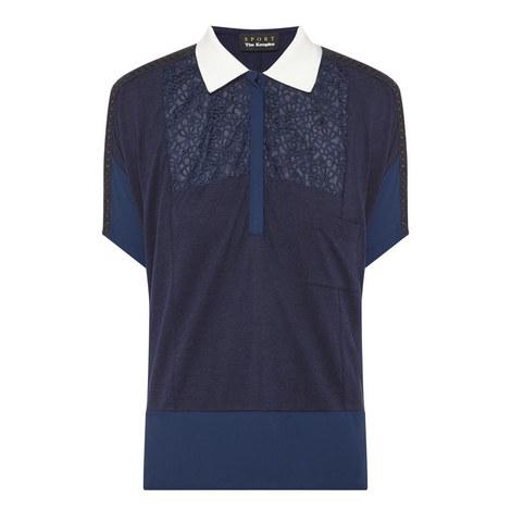 Piqué and Lace Polo Shirt, ${color}
