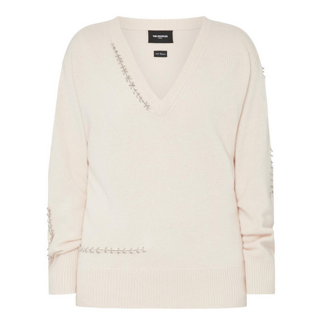 V-Neck Cashmere Sweater, ${color}