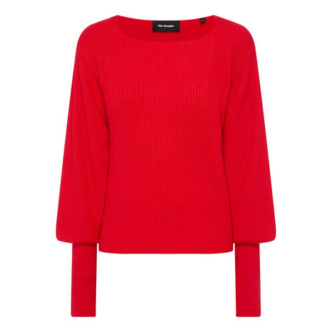Puffy Sleeve Sweater, ${color}