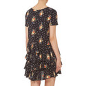 Bouquet Print T-Shirt Dress, ${color}