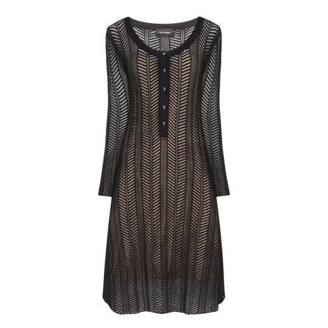 Lace-Style Mesh Dress, ${color}