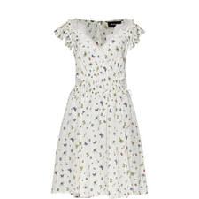 Ladybird Print Crêpe Dress