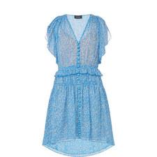 Floral Print Muslin Dress