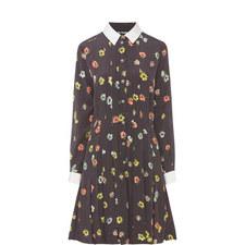 Floral Pin Spot Shirt Dress