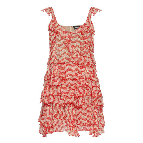 Jasmine Print Strappy Dress, ${color}