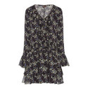 Saint Long Sleeve Print Dress, ${color}