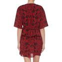 Rose Torn Print Dress, ${color}