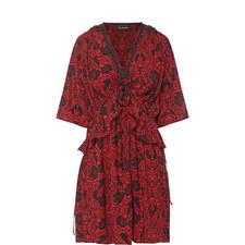 Rose Torn Print Dress