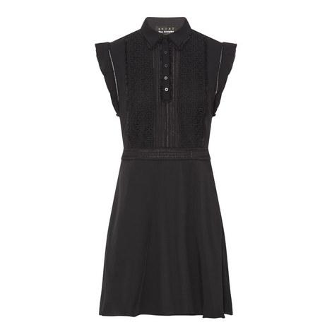 Sleeveless Bi-Material Dress, ${color}