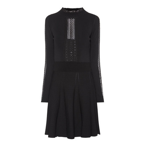Long Sleeve Embroidered Dress, ${color}