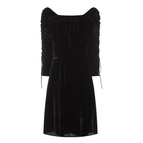 Ruched Velvet Dress, ${color}