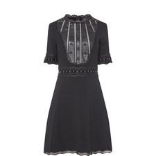 Short-Sleeved Crêpe Dress