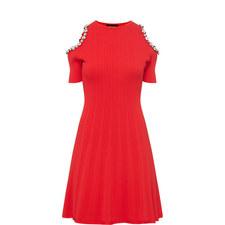 Cut-Out Shoulder Embellished Dress
