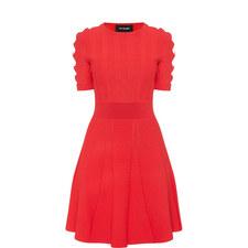 Diamond Cut-Out Short-Sleeve Dress