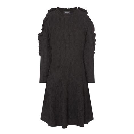 Open-Shoulder Knit Dress, ${color}