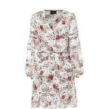 Flying Flower Print Dress