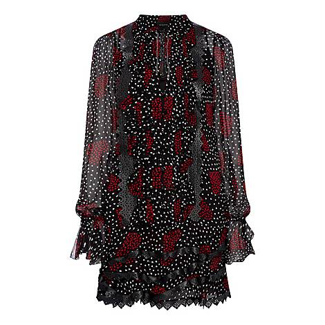 Flounced Mini Dress, ${color}