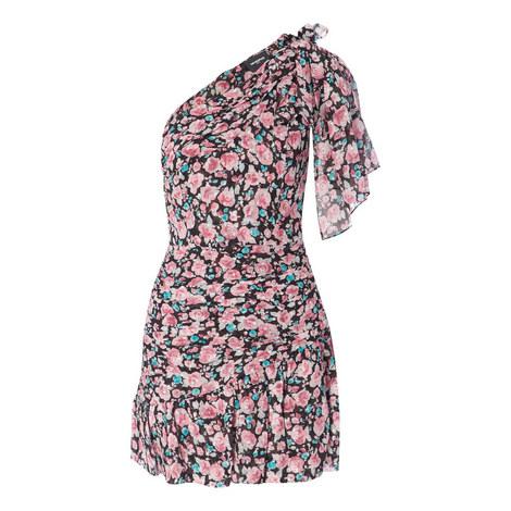 One Shoulder Floral Dress, ${color}