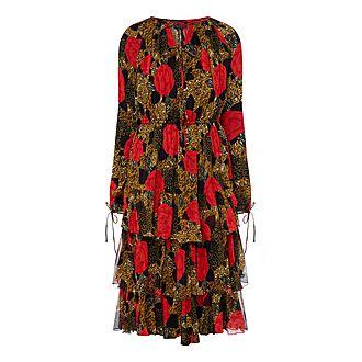 Silk Frill Dress