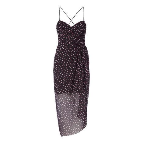 Polka Dot Crêpe Dress, ${color}