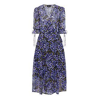 Botanical Print Midi Dress